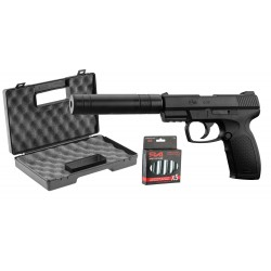 Pack Combat Zone- CO2 + silencieux + mallette ABS + 5 Co2