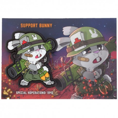 Patch Tactical Bunny WWII Support PVC